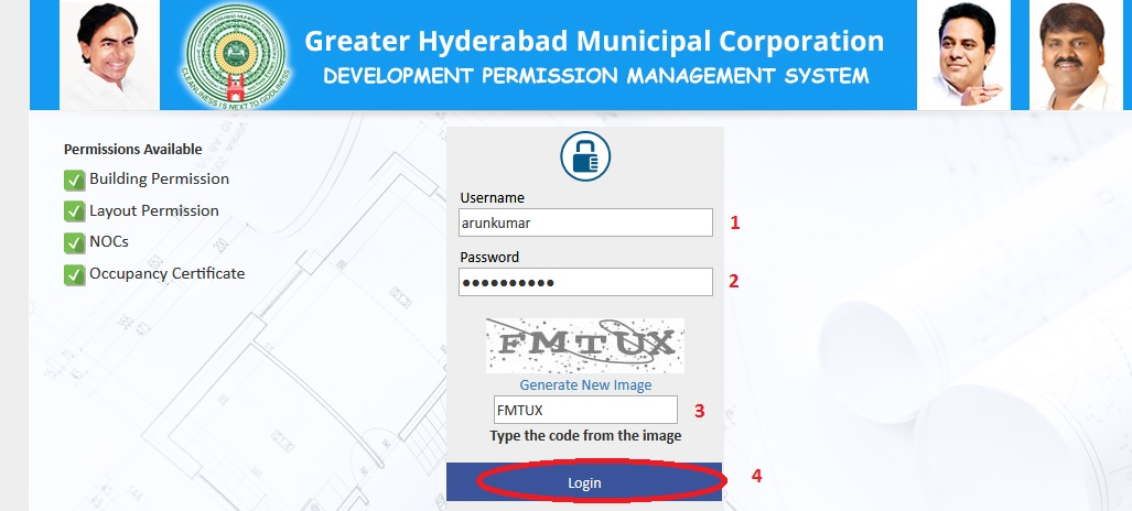 GHMC : Online Building Permissions Search Hyderabad – www statusin in