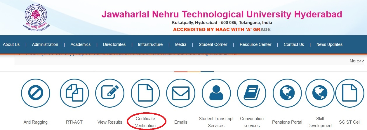 jntuh ac in Student Details & Degree Verification Telangana