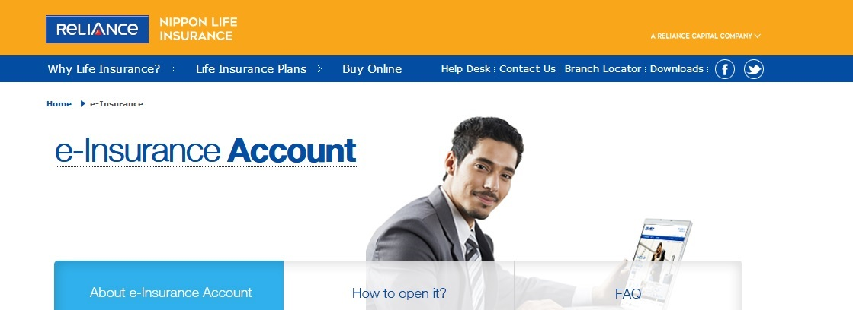 Reliance Nippon Life e-Insurance Account Opening Procedure ...