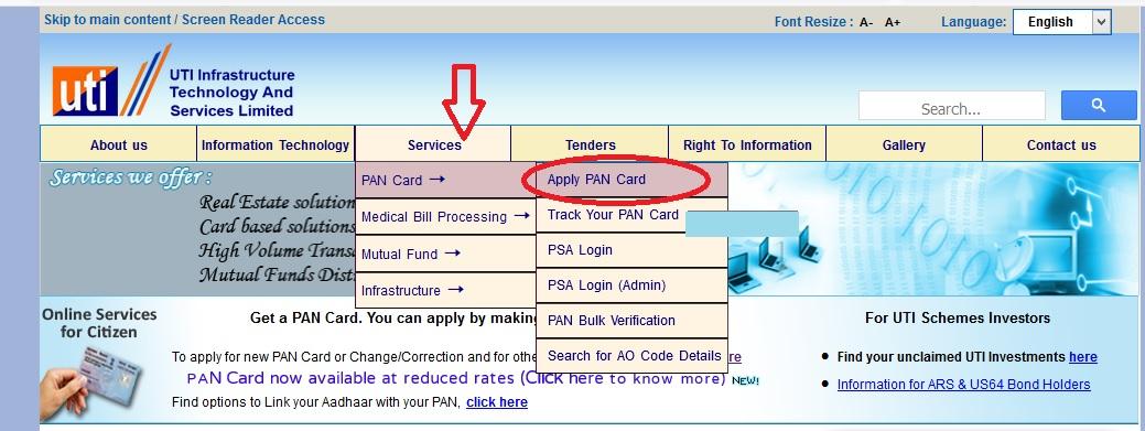 UTITSL : Apply, Update & Track PAN Card Status Online ...