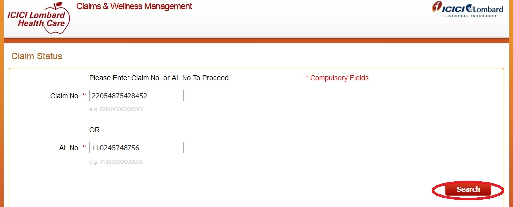 ICICI Lombard : Check your Health Claim Status - www ...