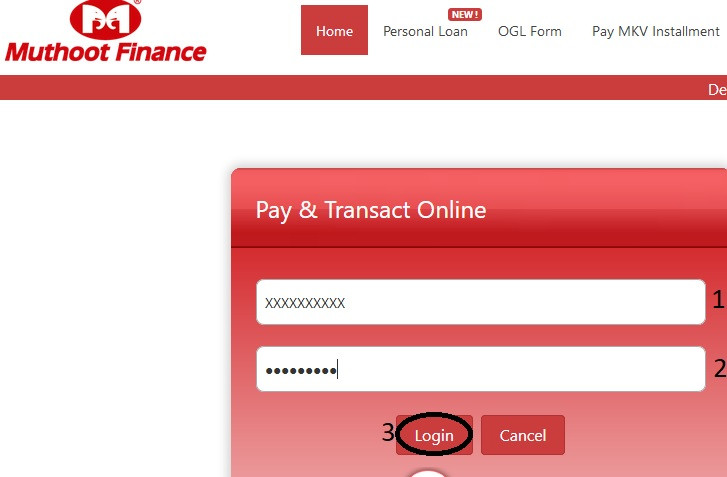 muthnet co in Webpay Interest Payments Online : Muthoot Finance
