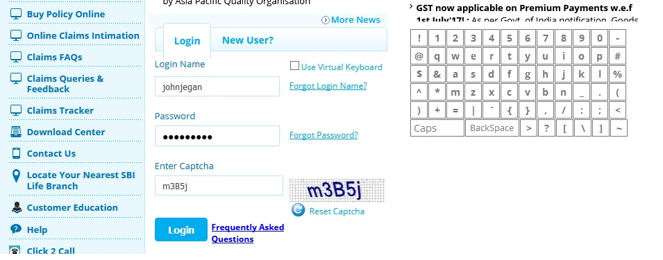 mypolicy.sbilife.co.in Online Customer Self Service : SBI ...