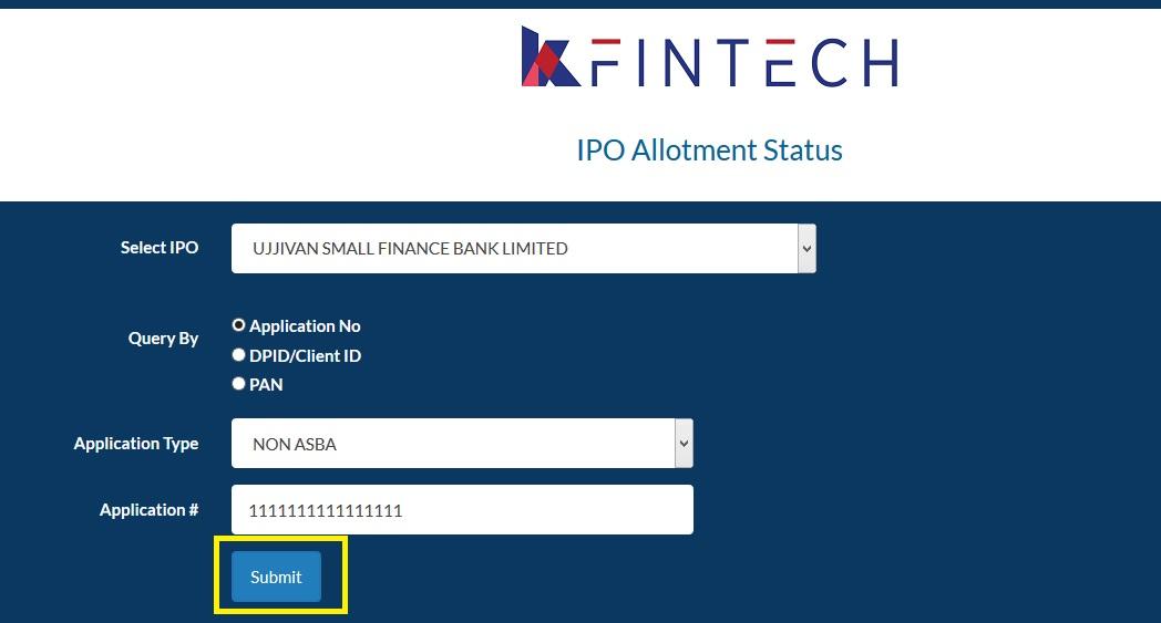 How To Check Ujjivan Ipo Application Status