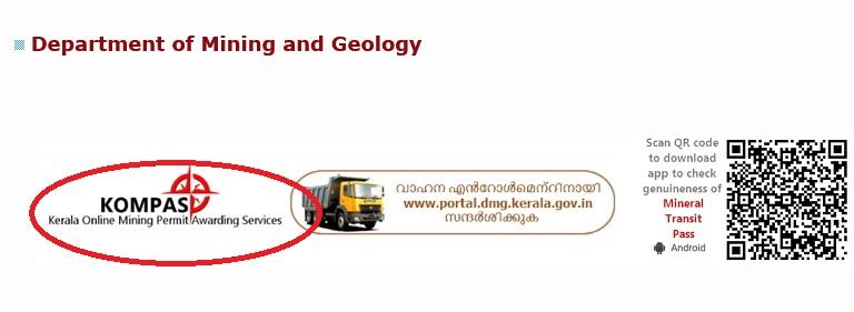 dmg kerala gov in Online Mining Permit Awarding Services