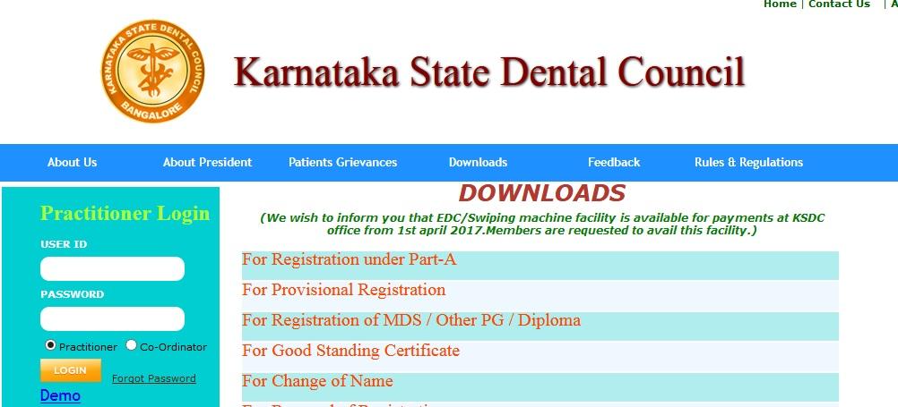 KSDC Provisional Registration : Karnataka State Dental